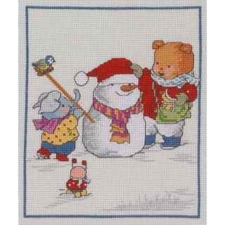 Borduurpakket Happy Friends Winter - Permin