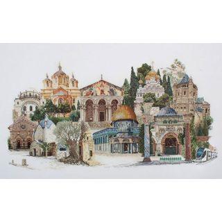 borduurpakket Jeruzalem linnen Thea Gouverneur