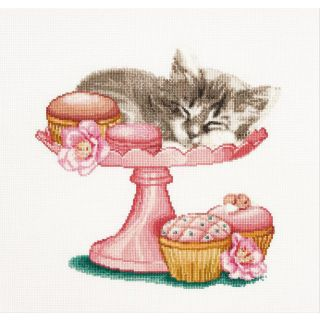 Borduurpakket Sweet as sugar kitten - Thea Gouverneur