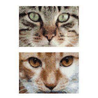 Borduurpakket Katten Tess en Simba  - Thea Gouverneur