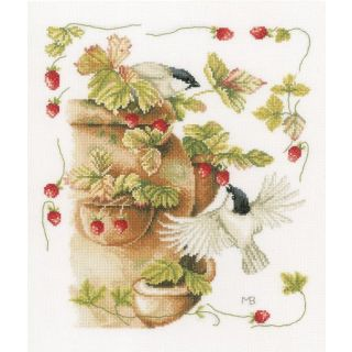 Borduurpakket Aardbeien en vogels - Marjolein Bastin