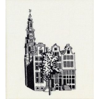 Borduurpakket Amsterdamse huizen - Pako