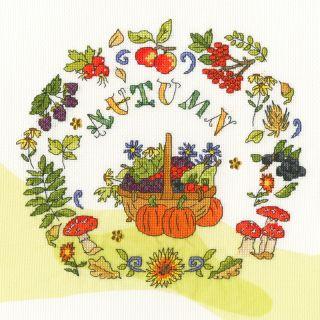 Borduurpakket Autumn time - Bothy Threads