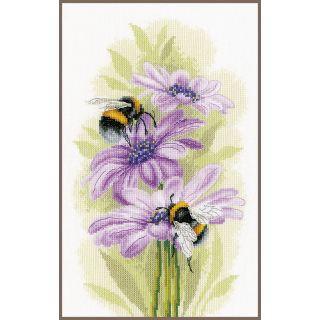Borduurpakket Dansende Bijen Aida - Lanarte