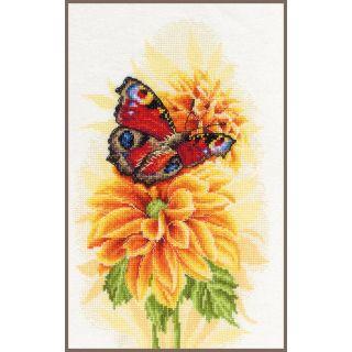 Borduurpakket Fladderende vlinder katoen - Lanarte