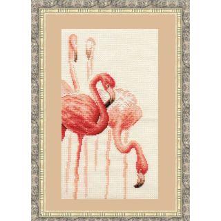 Borduurpakket Flamingo 1 - Golden Fleece Ltd