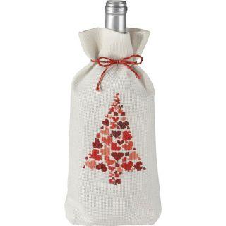Borduurpakket Kerstboom geschenkzak - Permin