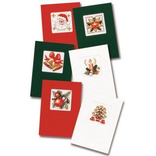 Kerstkaarten borduurpakket - set van 6 - Pako