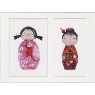 Borduurpakket Kokeshi Dolls - Thea Gouverneur