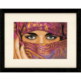 Borduurpakket Gesluierde vrouw (Veiled Woman) Katoen - Lanarte