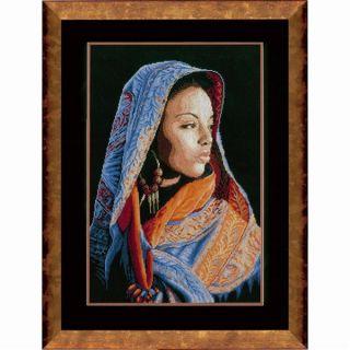 Borduurpakket Afrikaanse Dame - Lanarte