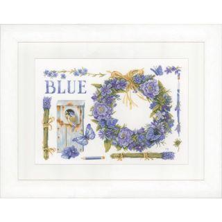 Borduurpakket Lavendelkrans met pimpelmees Aida - Marjolein Bastin