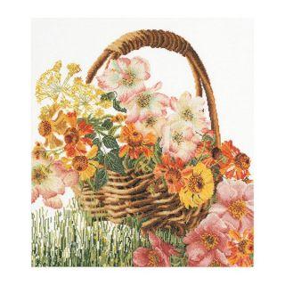 Borduurpakket Mand met bloemen Aida - Thea Gouverneur