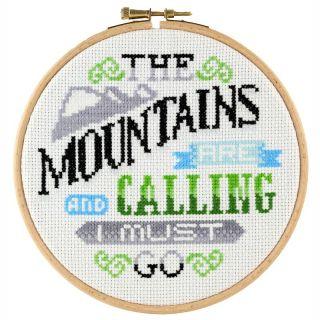 Borduurpakket Mountains are calling - Stitchonomy