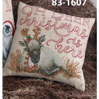 Kussen Oh Deer Christmas is here borduurpakket - Permin