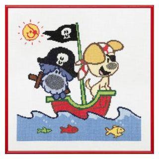 Borduurpakket Woezel & Pip Piraten - Pako