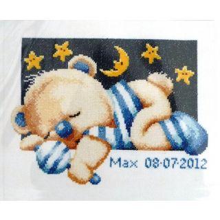 Geboortetegel Slapend beertje jongen - Pako