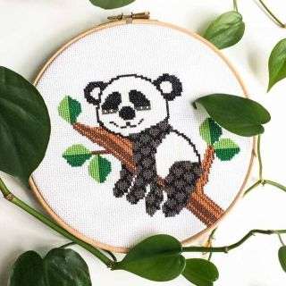 Borduurpakket Panda - Studio Koekoek