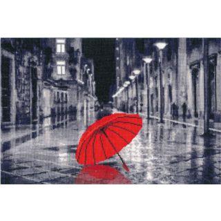Borduurpakket Red Umbrella - Golden Fleece Ltd