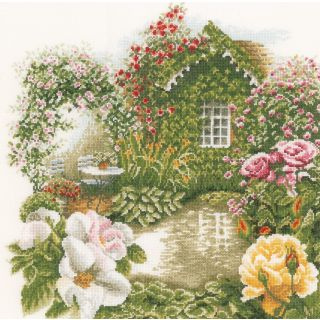Borduurpakket Rose garden - Lanarte