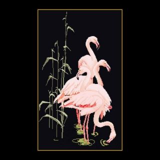 Borduurpakket Flamingo's Black Collection - Thea Gouverneur