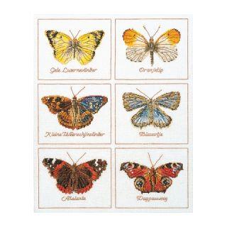 Borduurpakket Vlinders Linnen - Thea Gouverneur