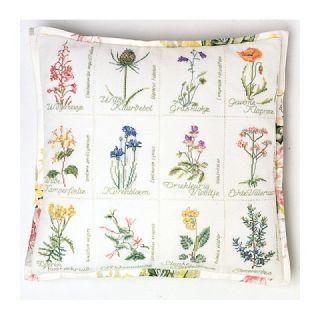Kussen Wilde Bloemen Jobelan borduurpakket - Thea Gouverneur