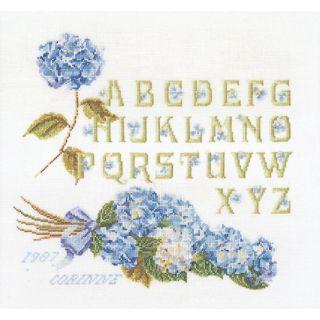 Borduurpakket Hortensia Alfabet Aida - Thea Gouverneur