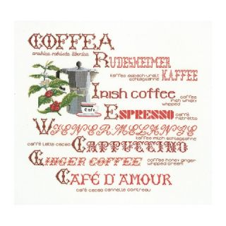 Borduurpakket Koffie merklap Aida - Thea Gouverneur