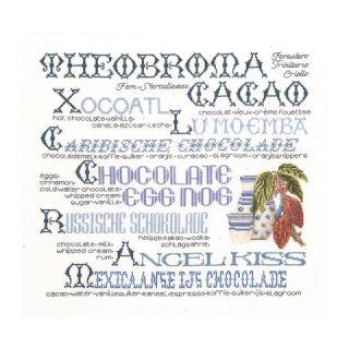 Borduurpakket Cacao merklap Linnen - Thea Gouverneur