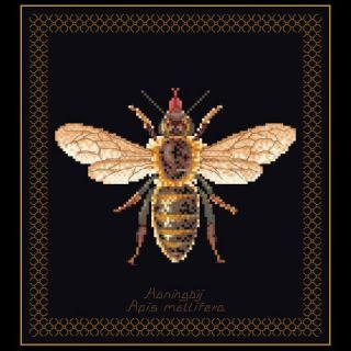Borduurpakket Honingbij Black Collection - Thea Gouverneur