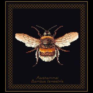 Borduurpakket Hommel Black Collection - Thea Gouverneur