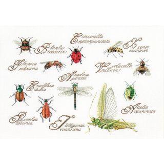 Borduurpakket Insectenpaneel Aida - Thea Gouverneur