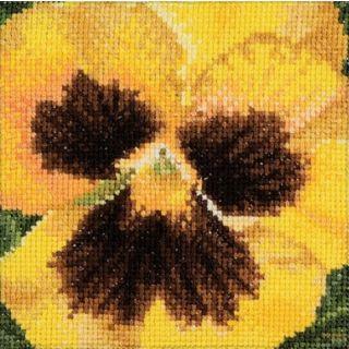 Borduurpakket Viooltje geel - Thea Gouverneur