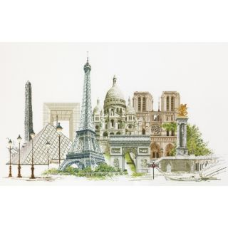 Borduurpakket Parijs Aida - Thea Gouverneur