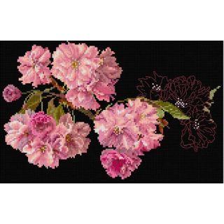 Borduurpakket Prunus bloesem Black Collection - Thea Gouverneur