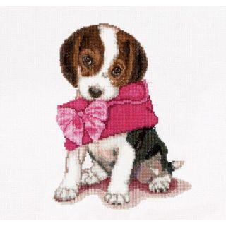 Borduurpakket Puppy Love - Thea Gouverneur