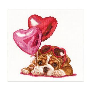 Borduurpakket Valentine's Puppy - Thea Gouverneur