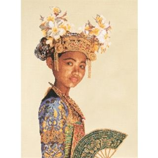 Borduurpakket Balinese Danseres (small) Aida - Thea Gouverneur