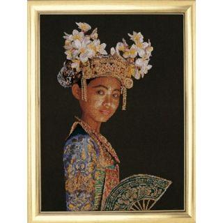Borduurpakket Balinese Danseres (brown) - Thea Gouverneur