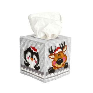 Borduurpakket Tissue box kerst  - Orchidea