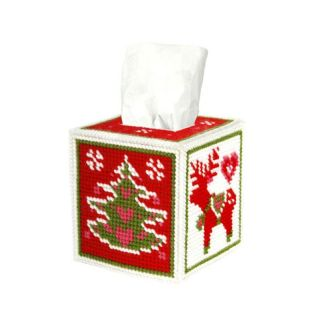 Borduurpakket Tissue box kerstmis  - Orchidea