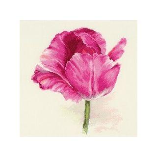 Borduurpakket Tulips Crimson glow - Alisa