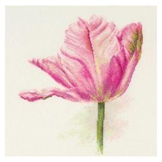 Borduurpakket Tulips Light pink - Alisa