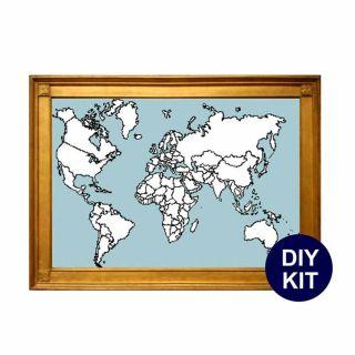 Borduurpakket Wereldkaart - Studio Koekoek