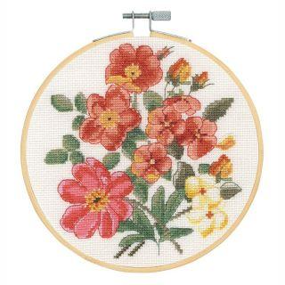 Borduurpakket Pauw met bloemen - DMC