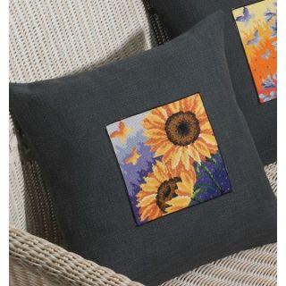 Borduurpakket Zonnebloemen - Permin