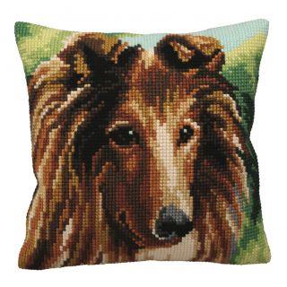 Kussen borduurpakket Lassie - Collection d'Art