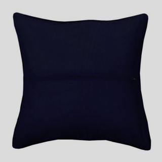 Kussenrug donkerblauw met rits - Orchidea