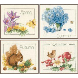 Borduurpakket Vier jaargetijden - Marjolein Bastin (Lanarte)
